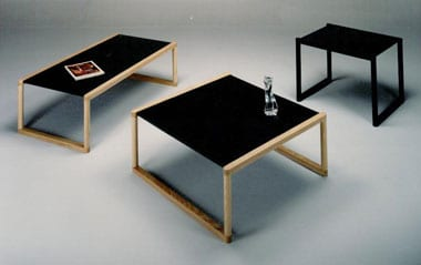 Maple and Laminate Collapsible Tables