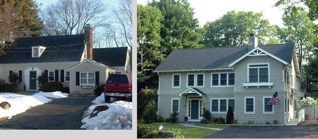 Expansion and alterations (before and after) Rye, NY