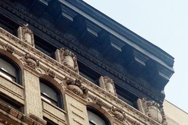 Facade restoration, New York University, NYC