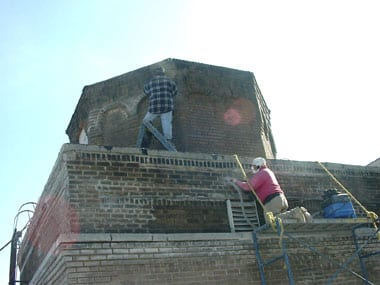 Restoring a roof bulkhead, NYC